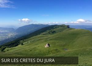 Les crêtes du Jura depuis Bellegarde