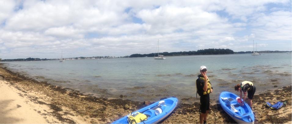 Sortie en Kayak pour atteindre l'île de Gavrinis