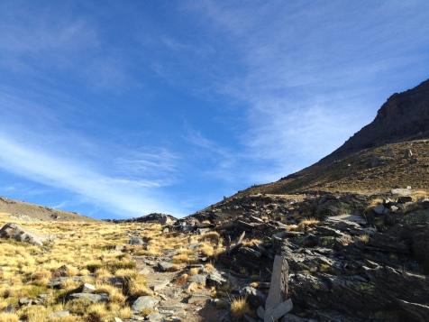 Vers le sommet en suivant le Rio Mulhacen