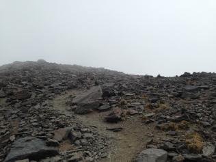 Le derniers mètres vers le sommet