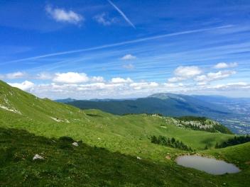 Superbe vue sur les crêtes du Jura