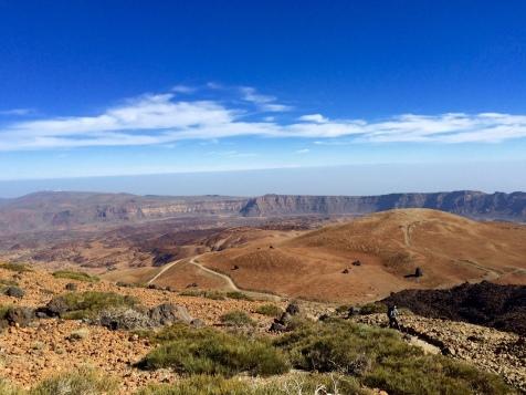 Vue sur les cratères environnants