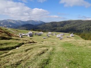 Vue sur le Katun Vranjak et les montagnes du parc Biogradska Gora