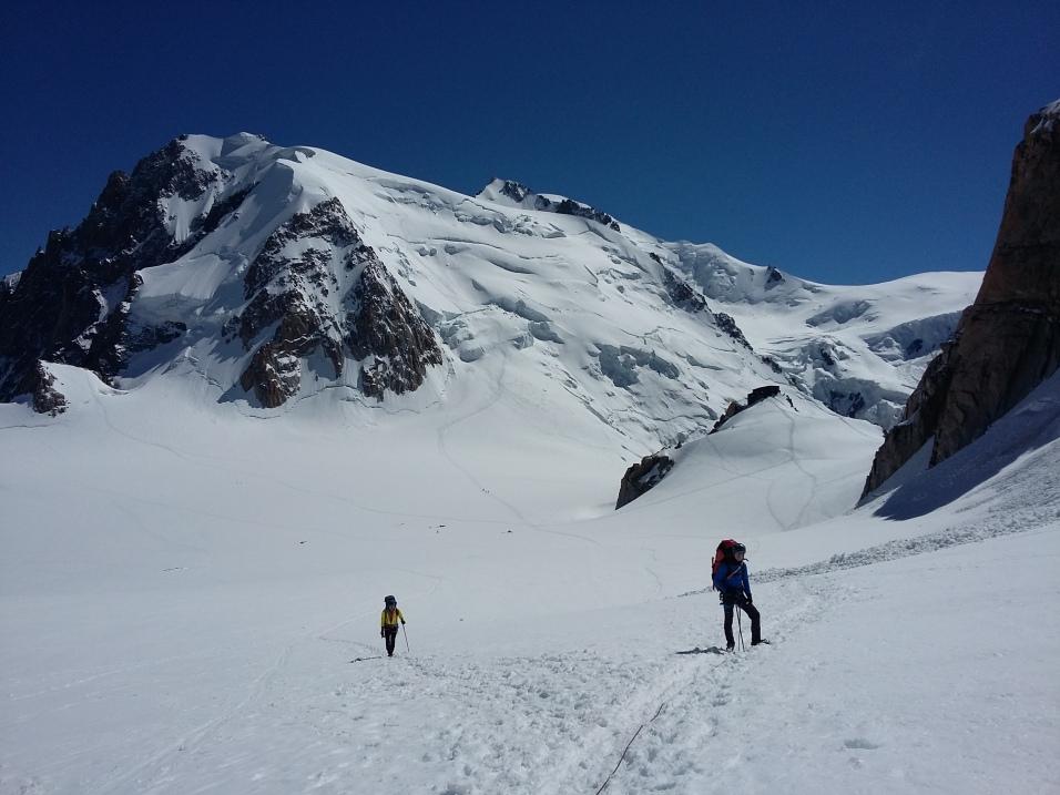 Retour vers l'Aiguille du Midi