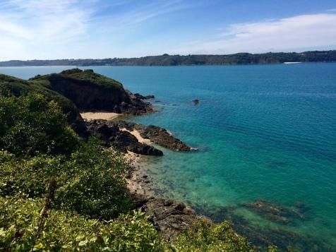L'eau turquoise la baie de la Fresnaye