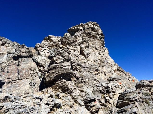 En chemin vers le sommet du Mytikas