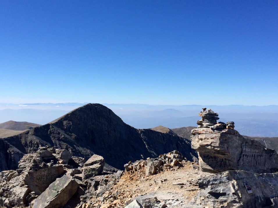Au sommet du Mont Olympe (Mytikas)