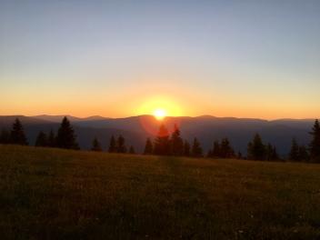 Coucher de soleil sur les Vosges