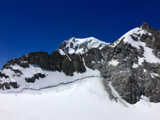 Arête Freshfield et vue sur le Mont Blanc