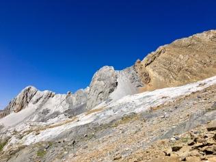 La descente du Pic de Gabiétou