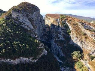 Vue sur le canyon depuis Point Sublime
