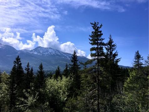 Vue sur les sommets du Vercors