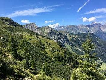 Sur le GR du Tour du Mont Blanc menant aux Grands