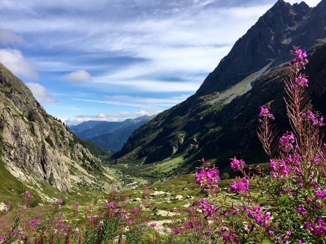Sur le GRP Tour du Pays du Mont Blanc en descendant du refuge de la Pierre à Bérard