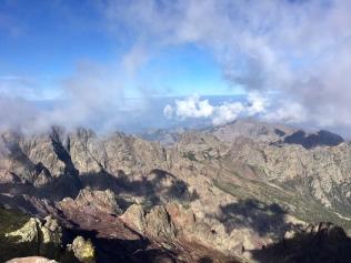 La vue depuis le sommet du Monte Cinto (2706 mètres)