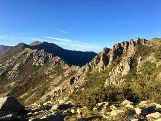 Vue sur la Bocca Manganello et la Pointe Murace depuis le refuge Petra Piana