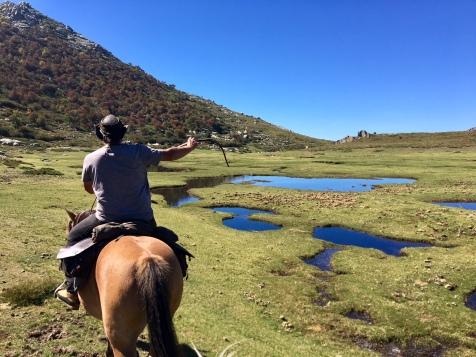 Ballade à cheval sur le plateau du Coscione