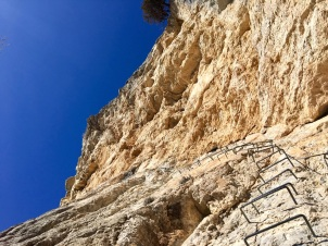 Section verticale de la via ferrata de la Grande Fistoire