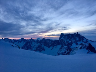 Les sommets au petit matin