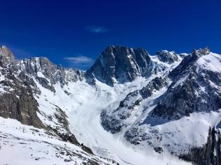 Les Grandes Jorasses et le glacier de Leschaux