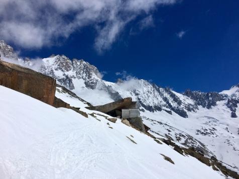 L'abri d'hiver du refuge du Couvercle