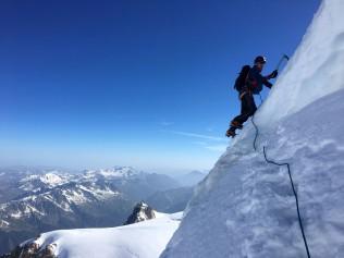 Descente de l'antécime du Mont Maudit