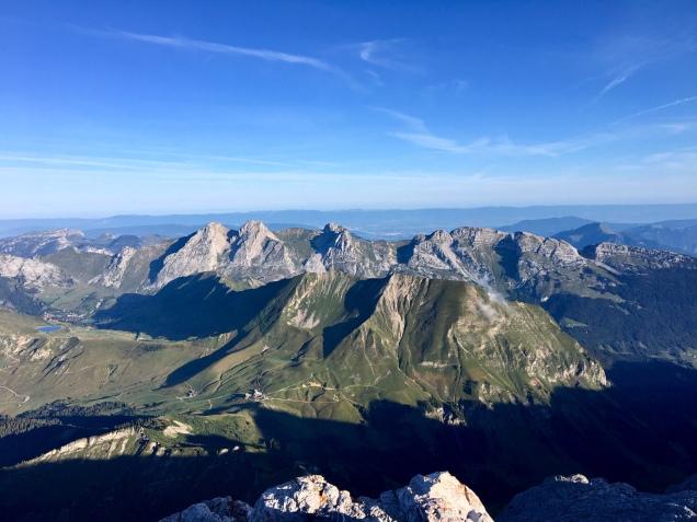 Vue depuis le sommet de la Pointe Percée