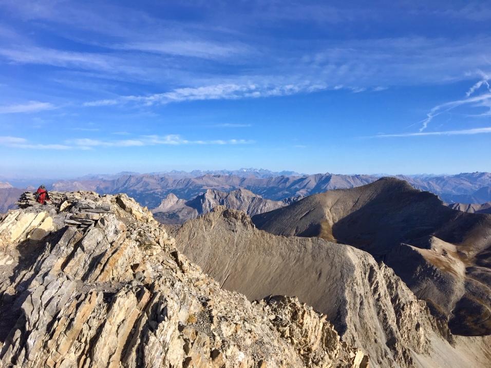 Au sommet du Mont Pelat
