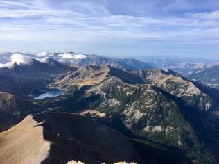 Vue sur la d'Allos depuis le sommet du Mont Pelat