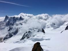Le massif du Mont Blanc depuis l'Aiguille du Midi