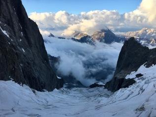 Le glacier tourmenté du Freney