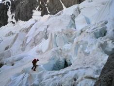 Passage du glacier du Freney