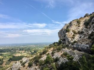 Vue sur le défilé des rochers de Baude