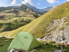 Sur le Tour du Mont Blanc - bivouac un peu le refuge des Mottets