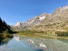 Sur le Tour du Mont Blanc - le lac Combal