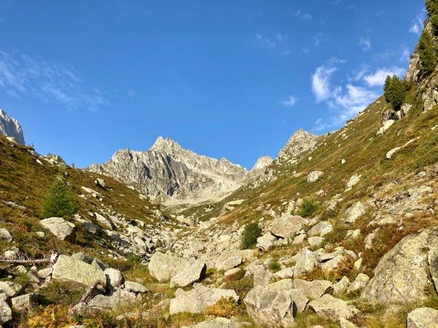 Sur le Tour du Mont Blanc - dans le Val d'Arpette en direction de la fenêtre d'Arpette