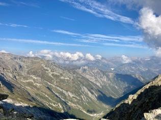 Sur le Tour du Mont Blanc - vue depuis la fenêtre d'Arpette