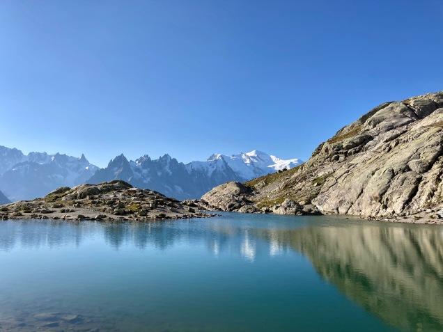 Sur le Tour du Mont Blanc - le lac Blanc