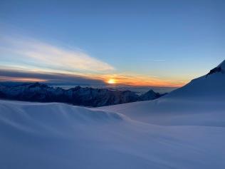 Lever de soleil depuis l'Alphubeljoch