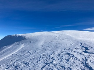 Le plateau sommital de l'Alphubel